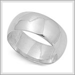 10mm Wedding Band Ring