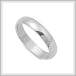4mm Wedding Band Ring