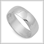 8mm Wedding Band Ring