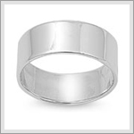 8mm Flat Band Ring