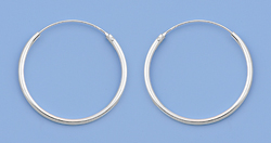 Continuous Hoop Earrings 1.5mm