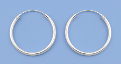 Continuous Hoop Earrings 2mm