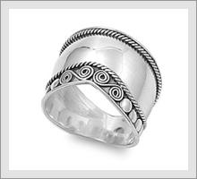 Silver Bali Rings