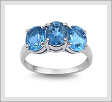 Silver Blue Topaz Rings