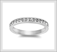 Silver Eternity Rings