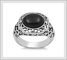 Silver Stone Rings
