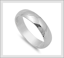 Silver Wedding Band Rings