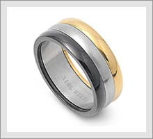 Steel Designed Band Rings