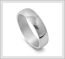 Steel Wedding Band Rings