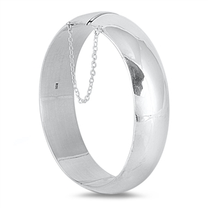 Pamela's Silver Bangle Bracelet, Polished - 20 X 65mm