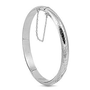 Donna's Silver Engraved Bangle - 7 X 55 X 60mm
