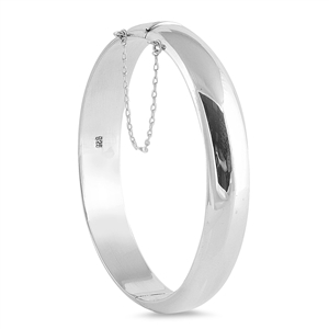Virginia&#039;s Silver Bangle Bracelet - 12 X 65mm