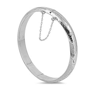 Carol's Silver Bangle Bracelet - 9 X 60mm