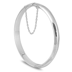 Barbara's Silver Bangle Bracelet - 7 x 60mm