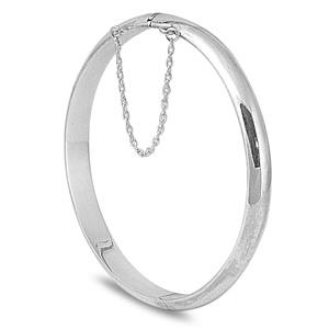 Barbara's Silver Bangle Bracelet - 7 x 60mm