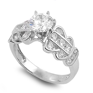 Pauline&#039;s Silver Ring with Clear CZ
