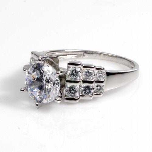 Jamie's Silver Ring with Clear CZ