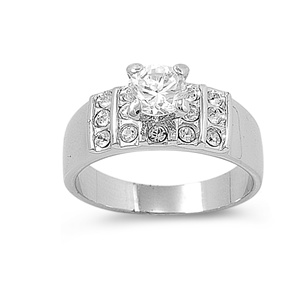 Sylvia's Silver Ring with Clear CZ