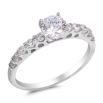 Glenda's Silver Ring with Clear CZ