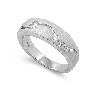 Joanna's Silver Ring with Clear CZ