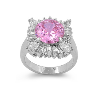 Katrina's Silver Ring with Pink CZ