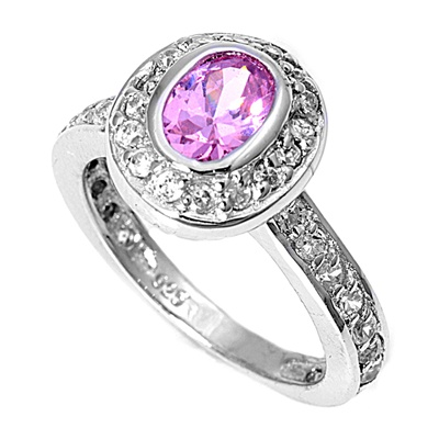 Bonnie's Silver Ring with Pink CZ
