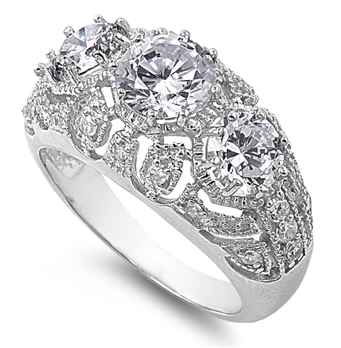 Sylvia's Silver Ring with Clear CZ Sylvia's Silver Ring with Clear CZ