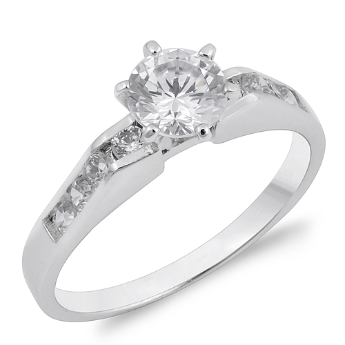 Josephine's Silver Ring with Clear CZ