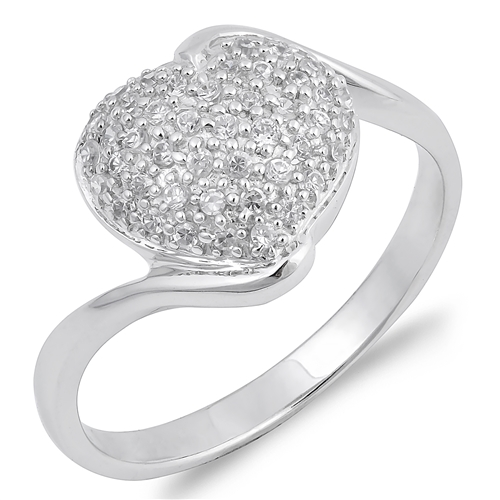 Ellen's Silver Ring with Clear CZ - Heart