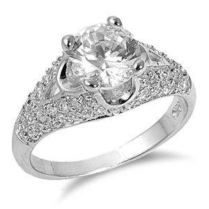 Grace's Silver Ring with Clear Cz