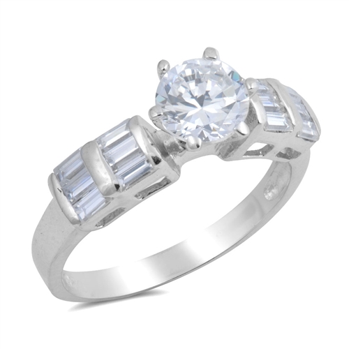 Lauren's Silver Ring with Clear CZ