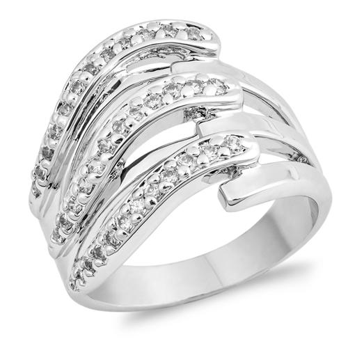 Maggie&#039;s Silver Ring with Clear CZ