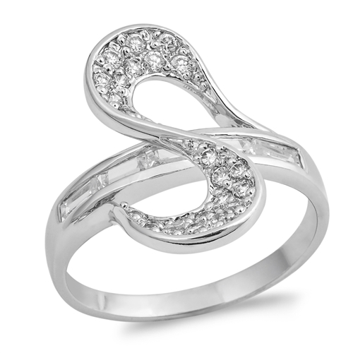 Janelle's Silver Ring with Clear CZ