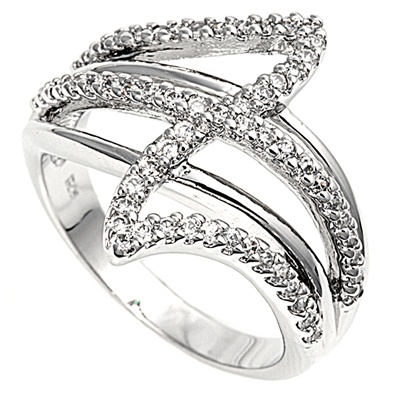 Melissa's Silver Ring with Clear CZ