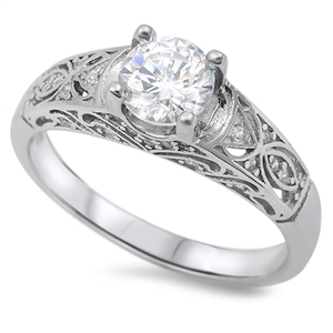 Martha's Silver Ring with Clear CZ