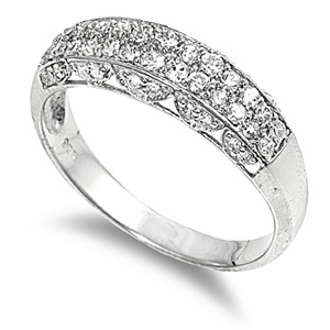 Ann's Silver Ring with Clear CZ