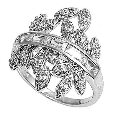 Julie's Silver Ring with Clear CZ