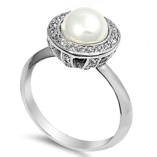 Jane's Silver Ring with Opal Stone