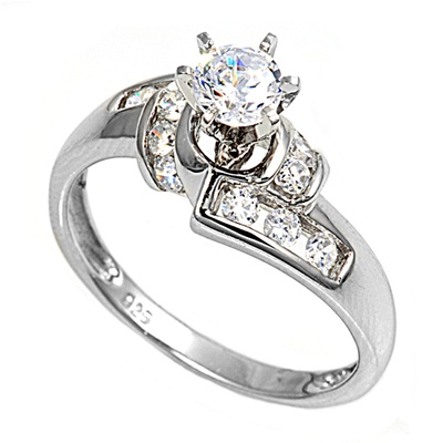 Sara's Silver Ring with Clear CZ