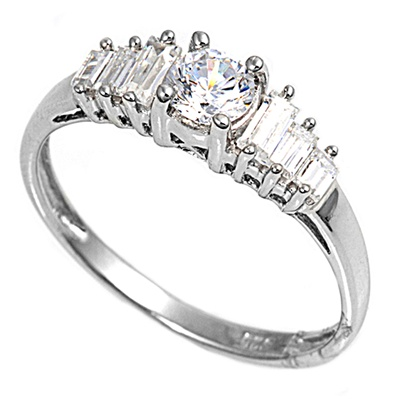 Anne's Silver Ring with Clear CZ