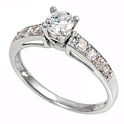 Jacqueline's Silver Ring with Clear CZ