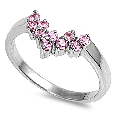 Lilian's Silver Ring with Pink CZ
