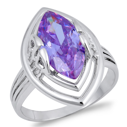 Tiffany's Silver Ring with Lavander CZ