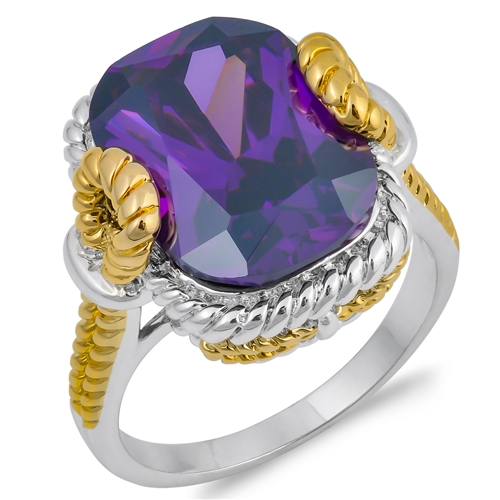 Grace&#039;s Silver Ring with Purple CZ
