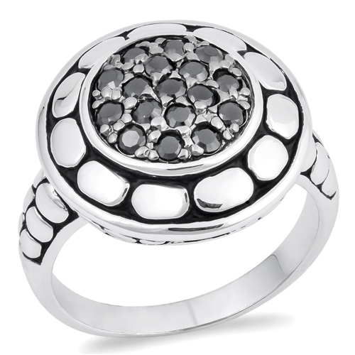 Sheila's Silver Ring with Black CZ