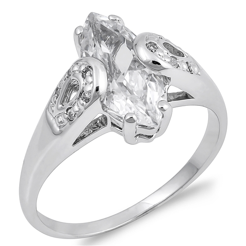 Carrie's Silver Ring with Clear CZ