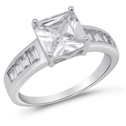 Gloria's Silver Ring with Clear CZ