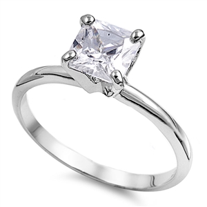 Jeanne's Silver Ring with Lavander CZ