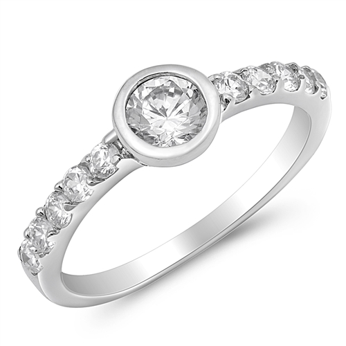 Cynthia's Silver Ring with Clear CZ
