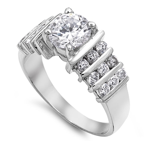 Sarah's Silver Ring with Clear CZ